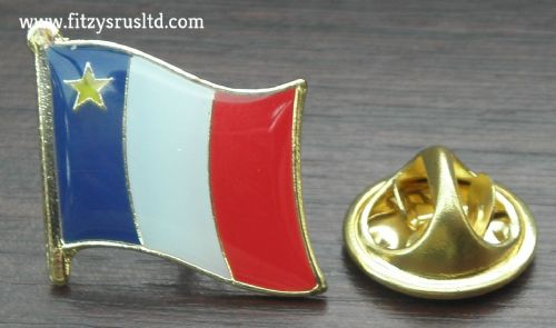 Acadia Flag Lapel Hat Cap Tie Pin Badge Acadians Souvenir Gift New France